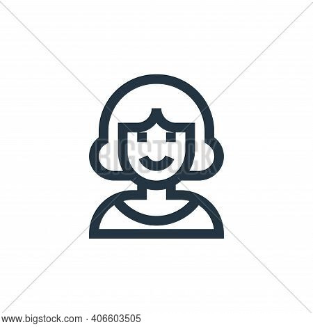 woman icon isolated on white background from people collection. woman icon thin line outline linear