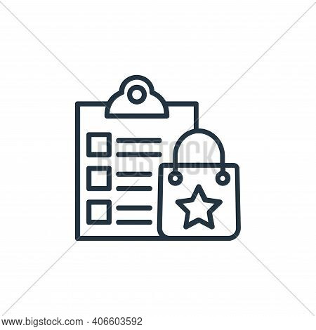 wish list icon isolated on white background from shopping line icons collection. wish list icon thin