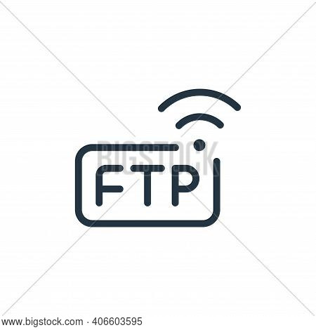 wireless icon isolated on white background from data transfer collection. wireless icon thin line ou