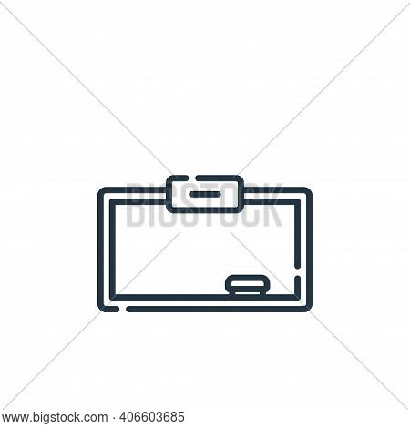 whiteboard icon isolated on white background from academy collection. whiteboard icon thin line outl