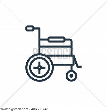wheelchair icon isolated on white background from hospital collection. wheelchair icon thin line out