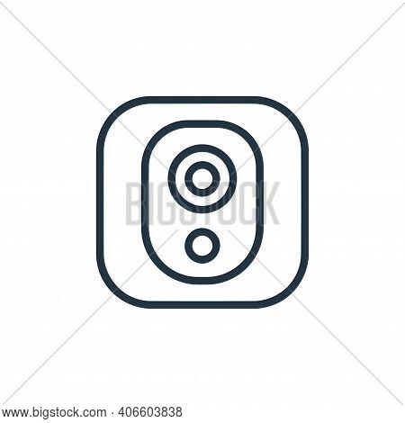 webcam icon isolated on white background from hardware and gadgets collection. webcam icon thin line