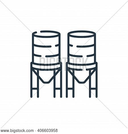 water tank icon isolated on white background from industrial process collection. water tank icon thi