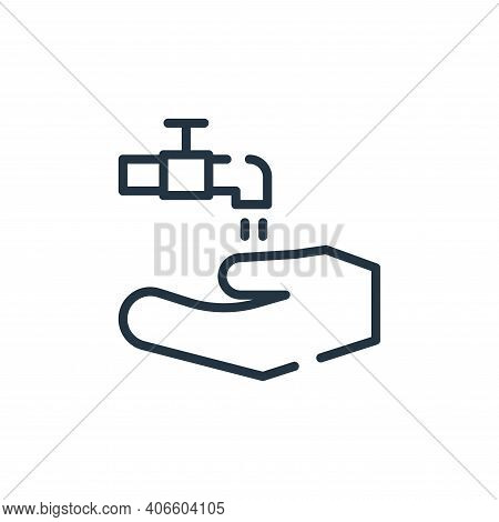 wash your hands icon isolated on white background from symptoms virus collection. wash your hands ic