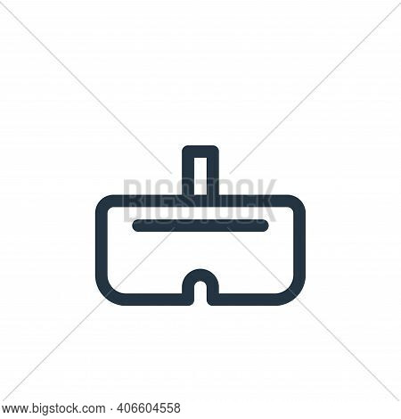 vr glasses icon isolated on white background from virtual reality collection. vr glasses icon thin l
