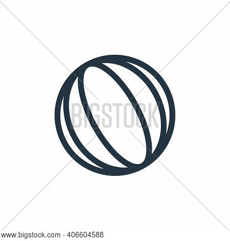 volleyball icon isolated on white background from holiday collection. volleyball icon thin line outl
