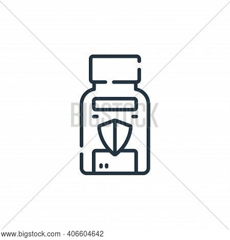 vitamins icon isolated on white background from coronavirus prevention collection. vitamins icon thi