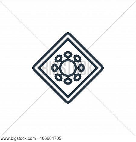 virus warning icon isolated on white background from pandemic novel virus collection. virus warning
