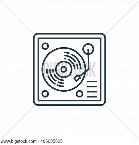 vinyl icon isolated on white background from technology devices collection. vinyl icon thin line out