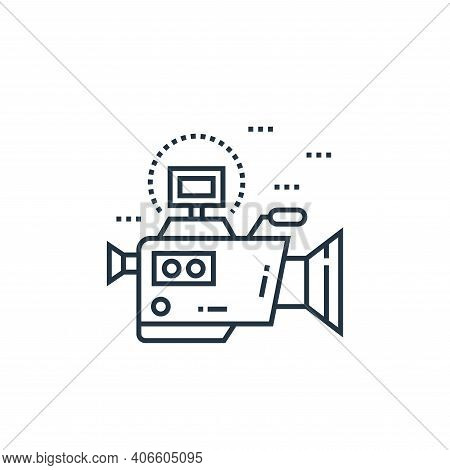video camera icon isolated on white background from technology devices collection. video camera icon