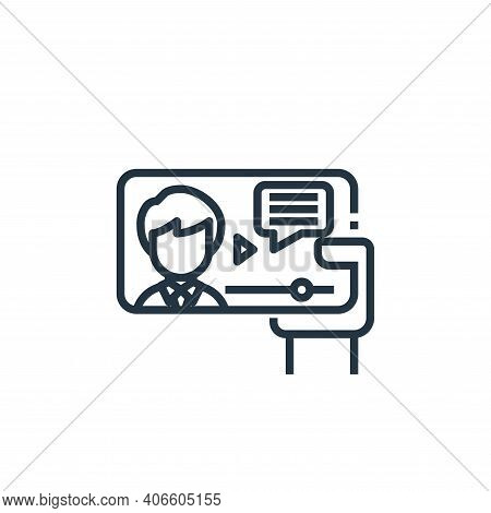 video icon isolated on white background from working from home collection. video icon thin line outl
