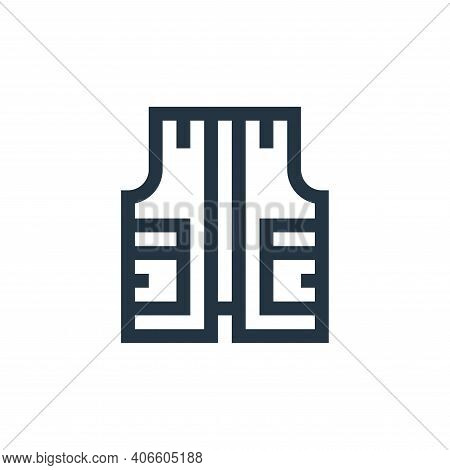 vest icon isolated on white background from history collection. vest icon thin line outline linear v