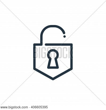unlocked icon isolated on white background from ricon collection. unlocked icon thin line outline li