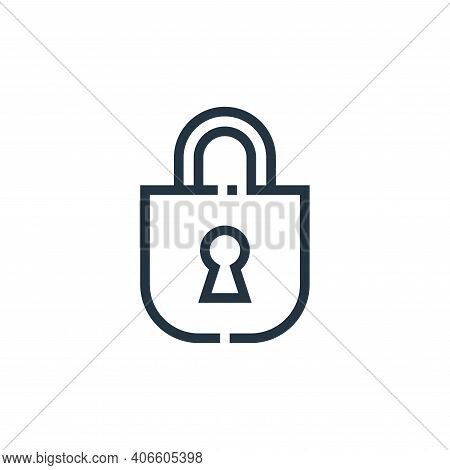 unlock icon isolated on white background from web essentials collection. unlock icon thin line outli