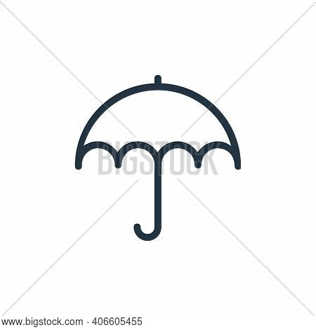 umbrella icon isolated on white background from banking and finance flat icons collection. umbrella
