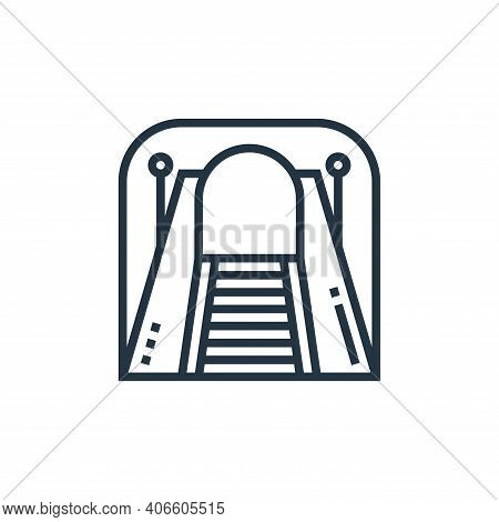 tunnel icon isolated on white background from railway collection. tunnel icon thin line outline line