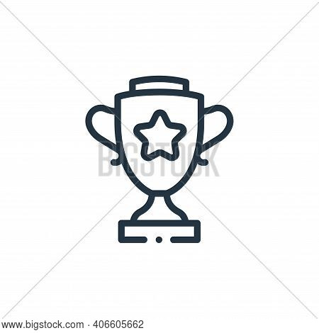 trophy icon isolated on white background from videogame elements collection. trophy icon thin line o