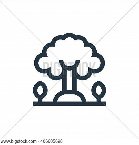 tree icon isolated on white background from mother earth day collection. tree icon thin line outline