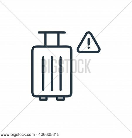 travel icon isolated on white background from covid collection. travel icon thin line outline linear