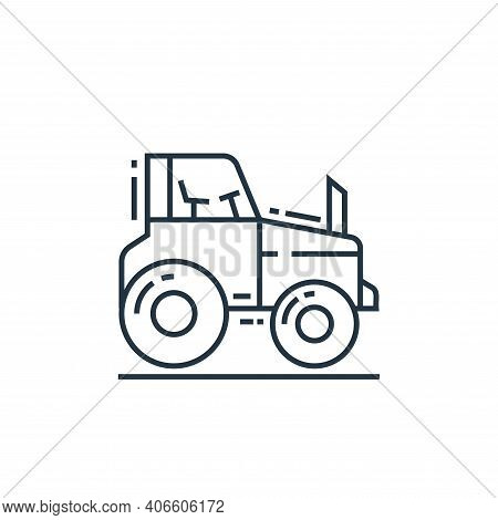 tractor icon isolated on white background from environment and eco collection. tractor icon thin lin