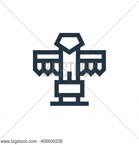 totem icon isolated on white background from history collection. totem icon thin line outline linear