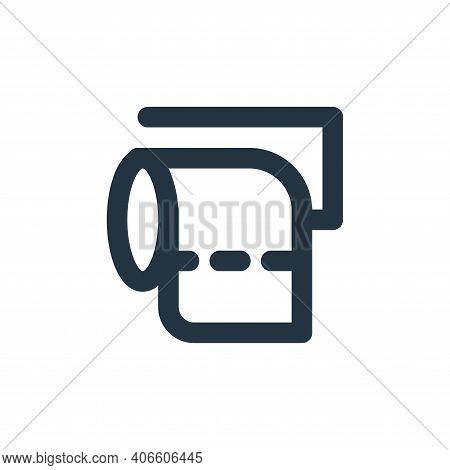 toilet paper icon isolated on white background from bathroom collection. toilet paper icon thin line