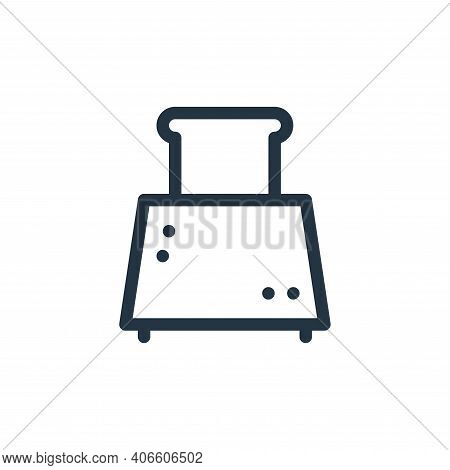 toaster icon isolated on white background from electronics collection. toaster icon thin line outlin