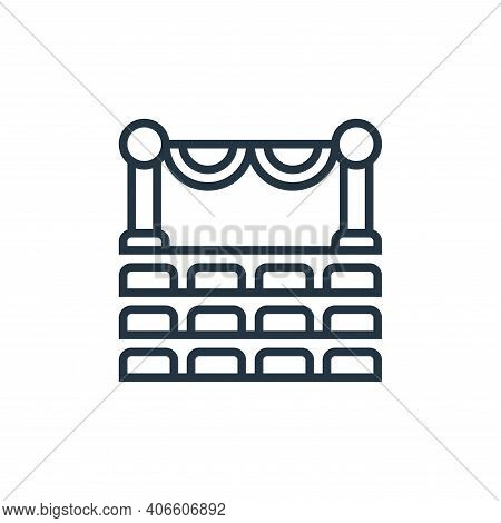 theater icon isolated on white background from cinema collection. theater icon thin line outline lin