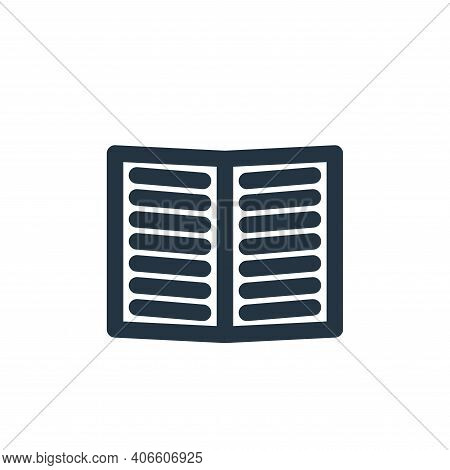 text book icon isolated on white background from marketing business collection. text book icon thin