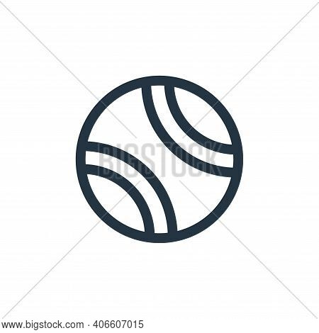 tennis ball icon isolated on white background from pet shop collection. tennis ball icon thin line o