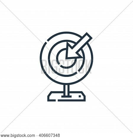 target icon isolated on white background from marketing collection. target icon thin line outline li