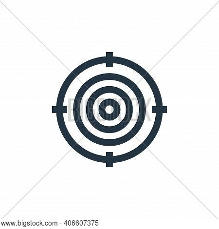 target icon isolated on white background from marketing and growth collection. target icon thin line
