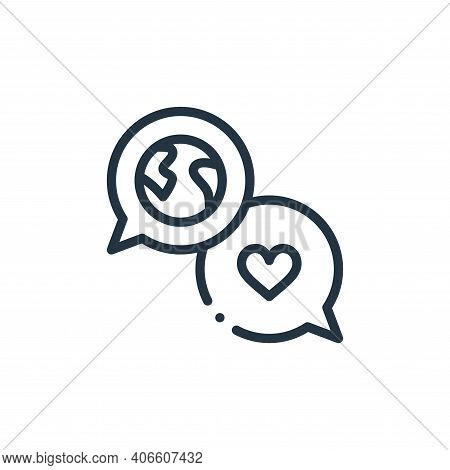 talk icon isolated on white background from world love collection. talk icon thin line outline linea