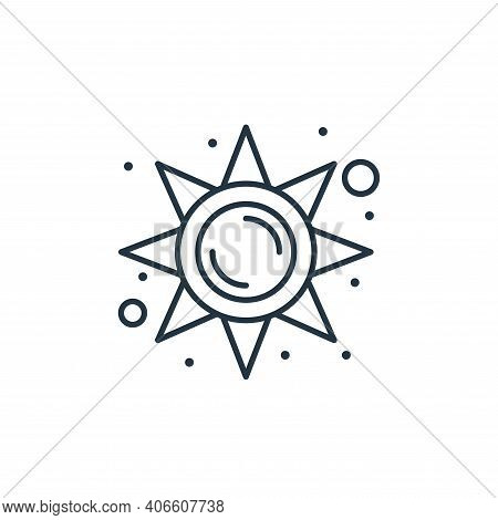 sun icon isolated on white background from brazilian carnival collection. sun icon thin line outline