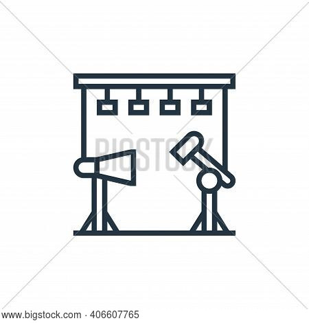 studio icon isolated on white background from cinema collection. studio icon thin line outline linea
