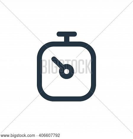 stopwatch icon isolated on white background from user interface collection. stopwatch icon thin line