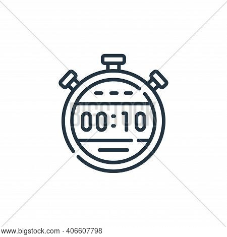 stopwatch icon isolated on white background from auto racing collection. stopwatch icon thin line ou