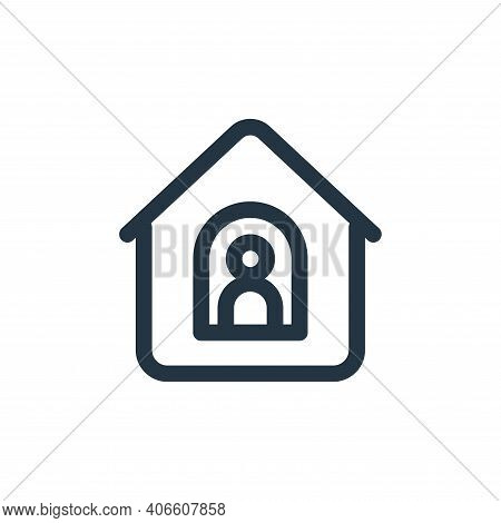 stay home icon isolated on white background from coronavirus collection. stay home icon thin line ou