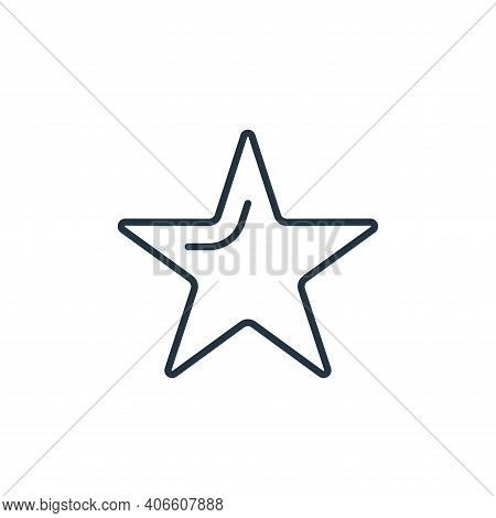 star icon isolated on white background from space collection. star icon thin line outline linear sta