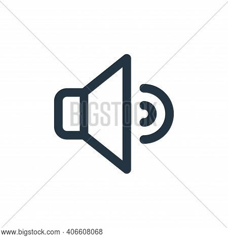 speaker icon isolated on white background from user interface collection. speaker icon thin line out