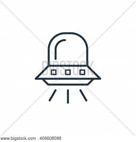 spaceship icon isolated on white background from space collection. spaceship icon thin line outline