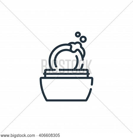 soap icon isolated on white background from hairdressing and barber shop collection. soap icon thin