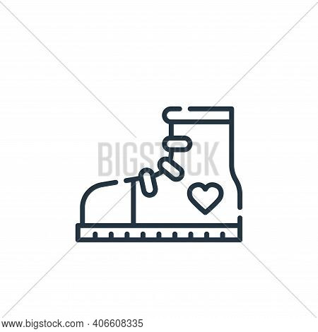 sneaker icon isolated on white background from hippies collection. sneaker icon thin line outline li