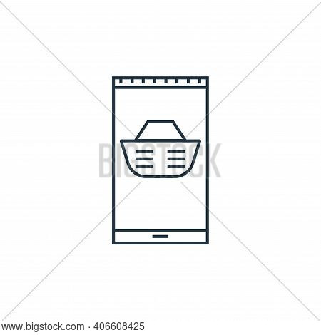 smartphone payment icon isolated on white background from online shopping collection. smartphone pay