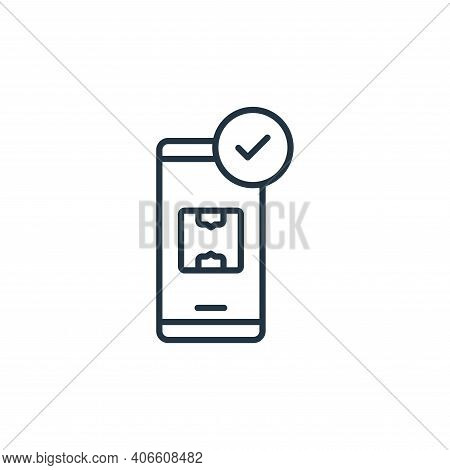 smartphone icon isolated on white background from shipping and delivery collection. smartphone icon