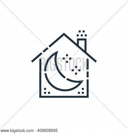 sleep mode icon isolated on white background from smarthome collection. sleep mode icon thin line ou