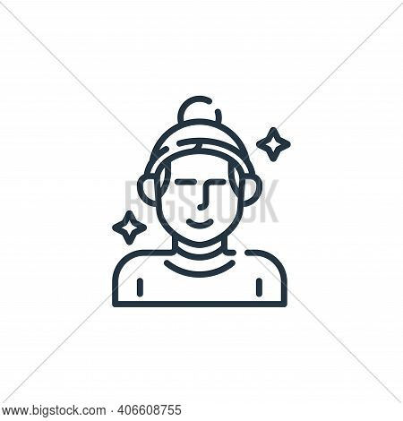 skincare icon isolated on white background from hairdressing and barber shop collection. skincare ic