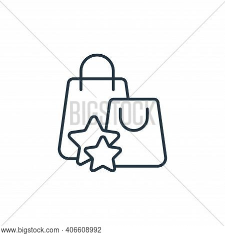 shopping bag icon isolated on white background from casino collection. shopping bag icon thin line o