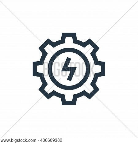 settings icon isolated on white background from electrician tools and elements collection. settings