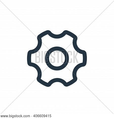 settings icon isolated on white background from interface collection. settings icon thin line outlin